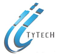 The first TyTech logo, made with Microsoft Paint, circa 2009.